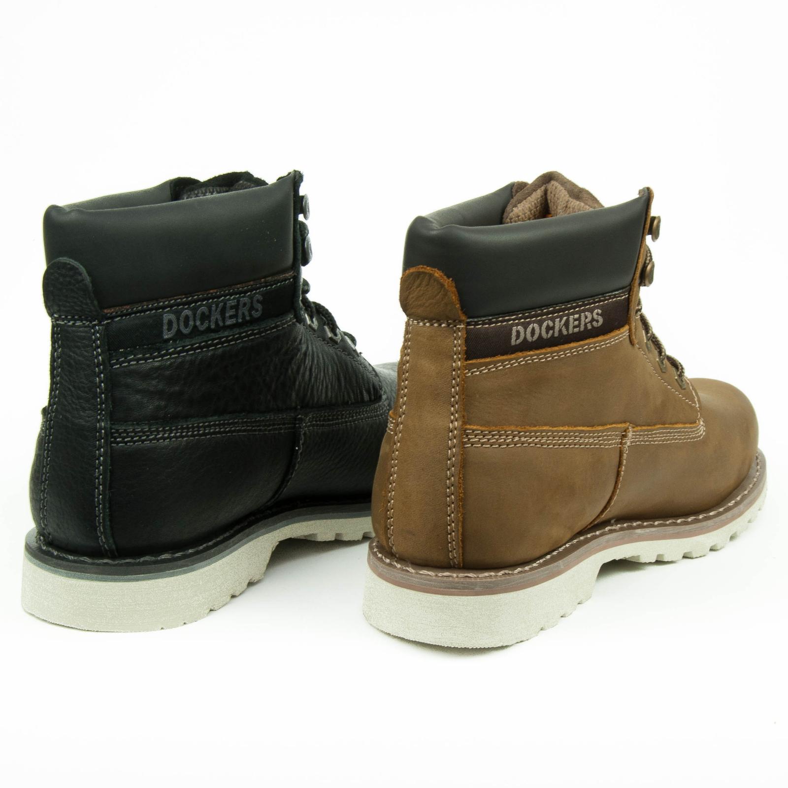 dockers herren boots leder schuhe schn rstiefel 33cr001 ebay. Black Bedroom Furniture Sets. Home Design Ideas