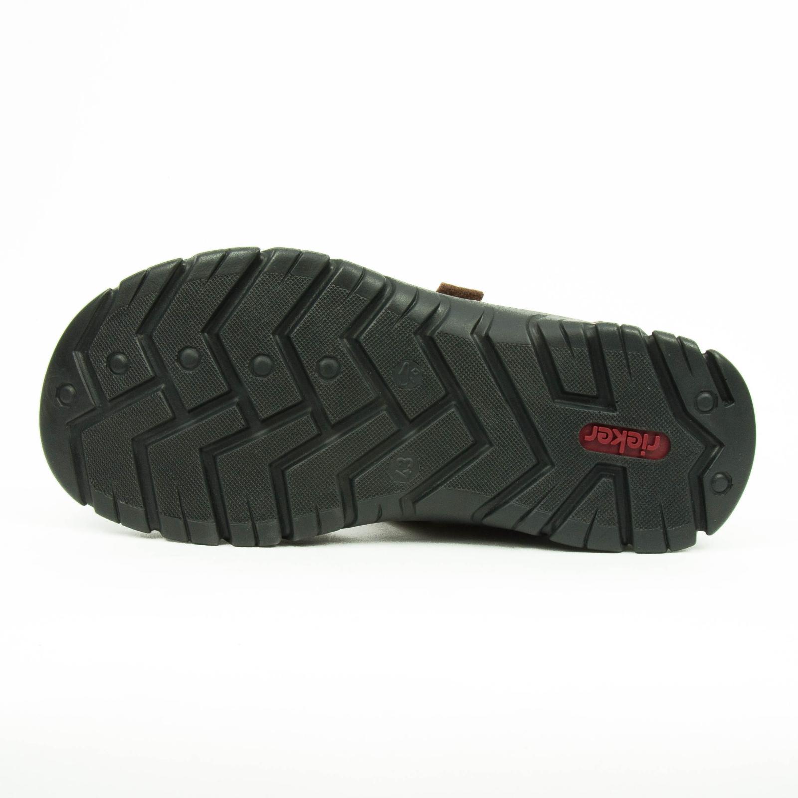 Details zu Rieker Herren Sandalen Sommer Schuhe mit Dreifach Klettverschluss Braun 26757 24