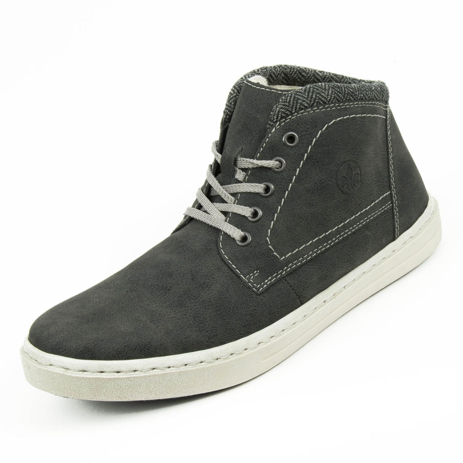 Rieker Herren Schnürschuhe Boots High Sneaker Warmfutter Grau 30932 ... 9d70857409